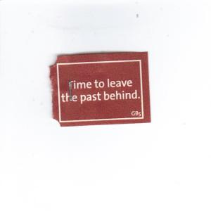 Time to leave the past behind